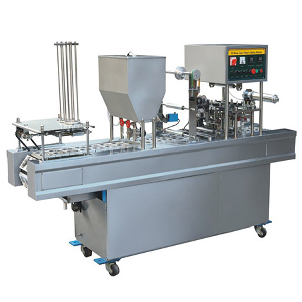 CD-20A 2Holes Mechanical Type Cup Filling And Sealing Machine