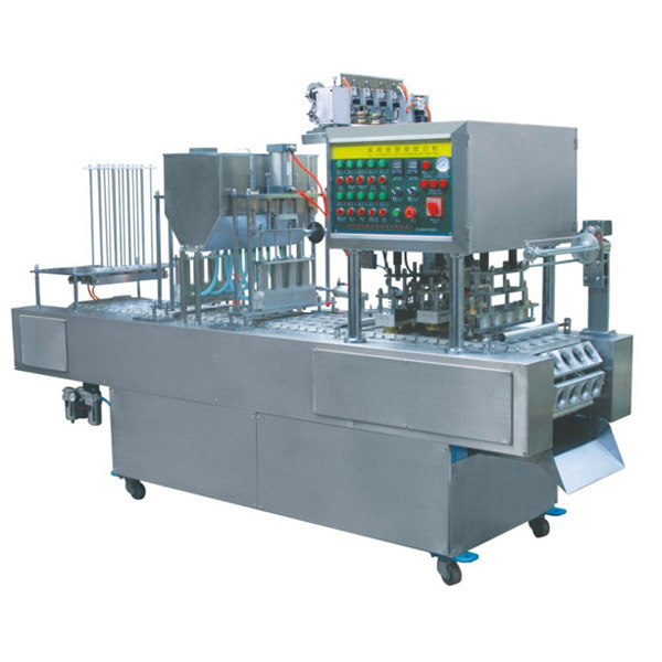 CD-20C-4Holes Pneumatic Cup Filling And Sealing Machine